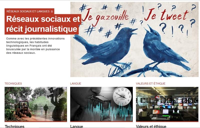Les cours de journalisme de la BBC sont disponibles en français