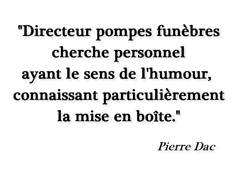 Une petite annonce de Pierre Dac, cruellement d'actualité