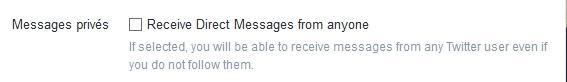 message privé