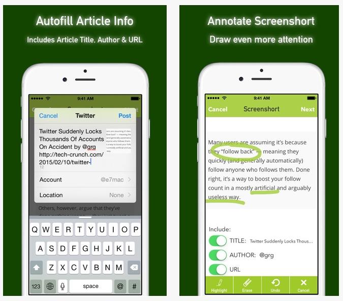 screenshort appli 2