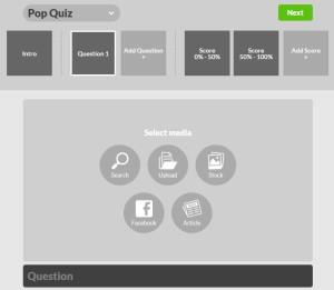 Une interface épurée pour créer des contenus interactifs